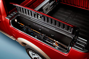 Ram Truck 'Outdoorsman' model showing some of the features built in just for outdoors people