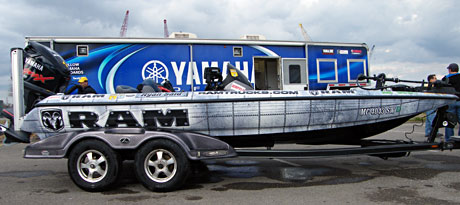 Michigan bass pro Ryan Said has a great Dodge Ram Trucks boat wrap for the 2011 Bassmaster Classic and Elite Series