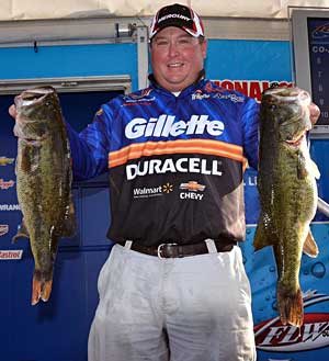 Gillette/Duracell pro Jacob Powroznik sits in second place after catching 29-4 from Lake Okeechobee