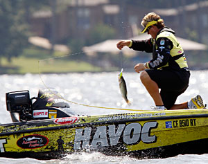 Skeet Reese lost his day three catch at the Bassmaster Elite Series on Wheeler Lake due to a sixth bass in his livewell
