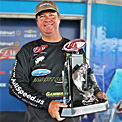 Skip Johnson took home the trophy and a $100,000 check for his FLW Tour win on Kentucky Lake