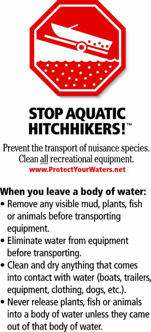 GreatLakesBass.com has partnered with the Stop Aquatic Hitchhikers campaign from ProtectYourWaters.net to slow and stop the spread of aquatic invasive species