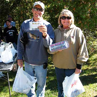 The husband and wife team of TackleThis!  and Mrs TackleThis! Deb caught a limit of smallmouth bass weighing 11.44 pounds to win the 2012 Fall West MadWags Memorial Members tournament on  Skegemog Lake