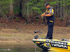 Bass pro Terry Scroggins now leads the 2011 Bassmaster Angler of the Year race after the Lake Murray Elite Series event