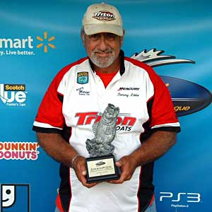 Boater Tommy Little of Chester, Va., won the June 25 BFL Shenandoah Division tournament on the James River to earn $2,985