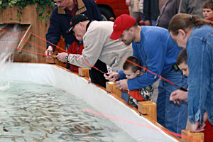 The Trout Pond is among many family attractions at the 2011 Ultimate Sport Show Grand Rapids