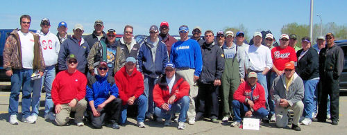 Spring DK Open 2008 picture of all participants, members of GreatLakesBass.com