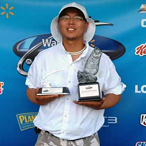 Yoomin Yi of Springfield, Va., won the co-angler title in the Shenandoah Division on the James River to earn $1,493